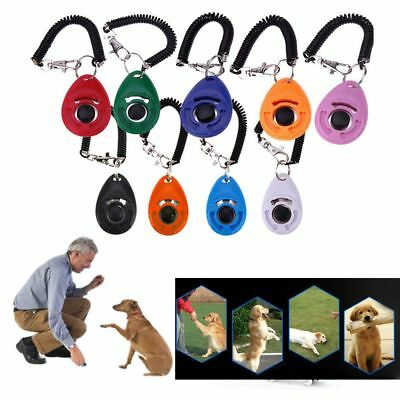 Puppy Elasticity Sound Button Dog Whistle Wrist Strap Pet Training Tool Plastic