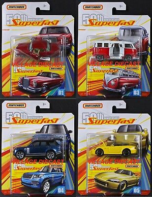 2019 Matchbox Superfast 50th Wave A - 4 Vehicles / VW / Honda / Mercedes / MOC