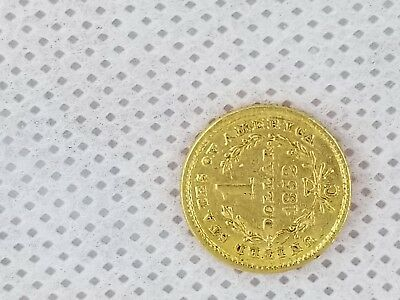 Very Rare 1852 $1 One Dollar Gold Liberty Charlotte Mint Only 9434 minted