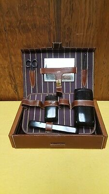Vintage Eversharp Hydro-Magic Shaving Kit Leather Case SWANK Grooming Toiletry
