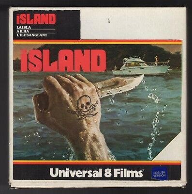 """Super 8mm Sound Film - The Island - 8"""" Reel Spliced from Two 7"""" Reels Universal"""
