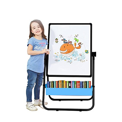 Kids Art Easel U-Stand Whiteboard&Chalkboard Double Sided Stand, 29.5inch-44inch