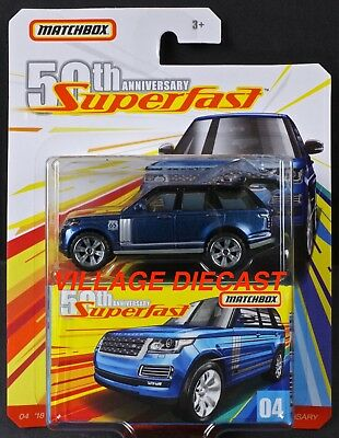 2019 Matchbox Superfast 50th #04 '18 Range Rover LWB BALMORAL BLUE / MOC