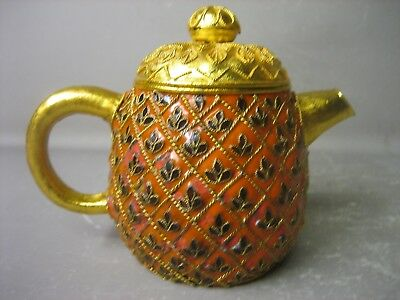 Vintage Chinese hand made cloisonne mini teapot