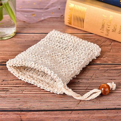 Cleaning Natural Ramie Sponge Pouch Soap Saver Bag Foaming Net Blister Mesh