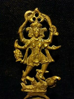 Antique Vintage Hindu Kali Krishna Spoon Soma Ritual Ceremonial Tantra18Th Cent