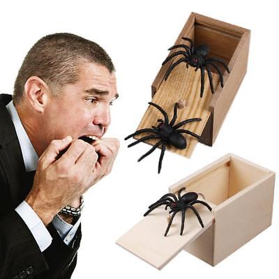 Prank Spider Cockroach Wooden Scare Box Home Office Joke Gag Toy Kids Adult Y8A9
