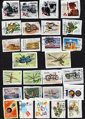 2017 To 2018 $1.00 Australian Security Stamps  On Paper All Different  Used