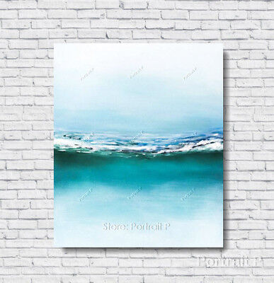 Abstract Painting Modern Art Ocean Waves Texture Oil Hand-Painted Canvas 20x24