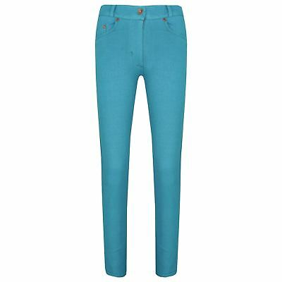 Girls Skinny Jeans Kids Aqua Stretchy Denim Jeggings Fit Pants Trousers 5-13 Yrs