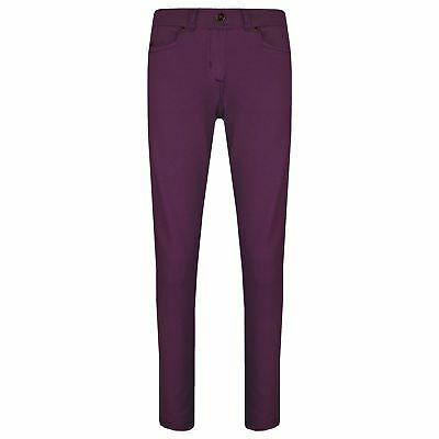Girls Skinny Jeans Kids Purple Stretchy Denim Jeggings Fit Pants Trousers 5-13Yr