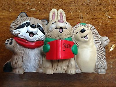 Hallmark 1983 Merry Miniature Caroling Animals