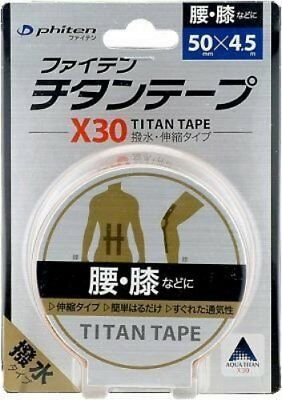 Phiten Titan Tape X30 Beige 5.0cm x 4.5m Titanium Tape Roll New from Japan