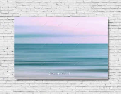 Abstract Painting Original Art Ocean Sky Texture Oil Hand-Painted Canvas 24x36