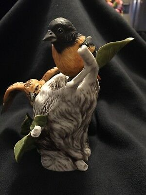 3 Kevin Daniels Birds of Your Garden Figurines; Cardinal & Baltimore Oriole