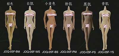 JIAOU DOLL 1/6  Super Flexible European Female Big Bust  Body Non Dismantle Foot