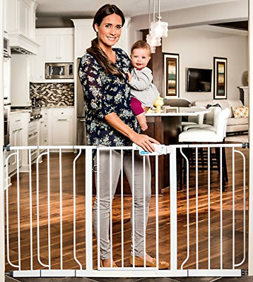 Regalo 58-Inch Extra WideSpan Walk Through Baby Gate, Bonus Kit, Includes 8-Inch