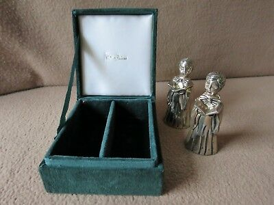 Neiman Marcus ~ Godinger Silver Art Co. Choir Girls Silver Plate Shakers in Case
