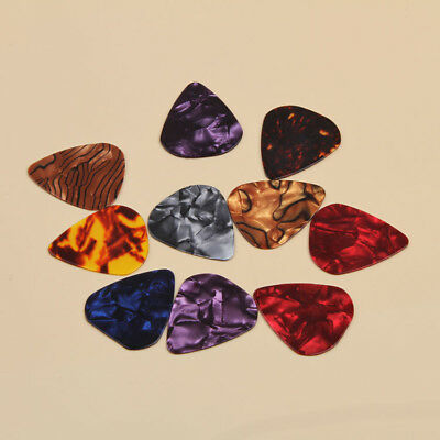 10 x Guitar Picks Plectrum Paddle Plec Electric Acoustic Bass Assorted Colours