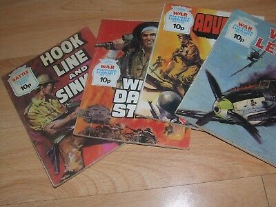 4 X 1976 War / Battle Picture Library Fleetway Comics #972, 1217, 1233, 1228