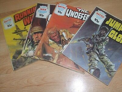4 X 1976 Battle /  War Picture Library Fleetway Comics #993, 998, 1007, 1175
