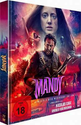 """MANDY"" - Nicolas Cage - Panos Cosmatos Horror Cult - Ltd BLU RAY DVD Mediabook"