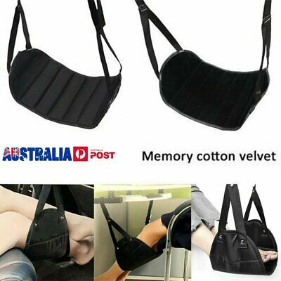 Travel Foot Rest Footrest Leg Pillow Flight Memory Foam Cushion Hammock OD