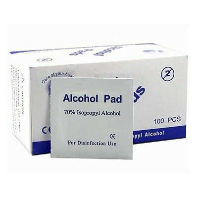 100pcs 70% Alcohol Prep Pads Handy Wet Wipes for External Use First Aid Washing