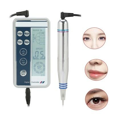 Digital Permanent Makeup Machine Microblading Eyebrow Lip Tattoo Pen + Needles