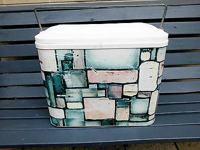 """CooL! Vintage Metal Willow Esky """" MICHEAL DOYLE """" Cooler"""