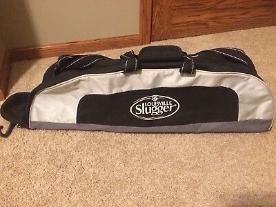 LOUISVILLE SLUGGER Youth Baseball Bat Bag Black  Locker Bag Adult Softball Bag