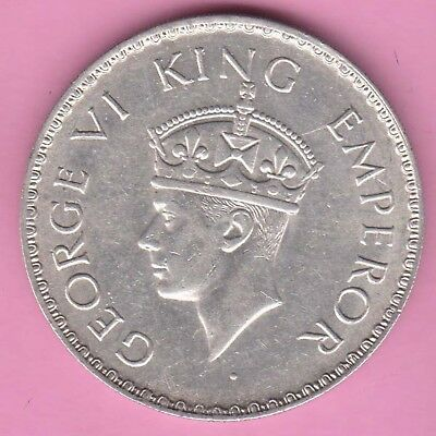 British India-1940-Bombay Mint-One Rupee-King George 6-Rarest Silver Coin-35
