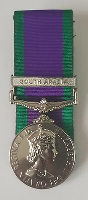 Full Size Court Mounted General Service Medal 1962 GSM with South Arabia Clasp