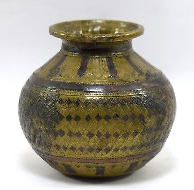Original Genuine Antique Water Pot Rare Ganga-Jamuna Rare Collectible. G56-10 US
