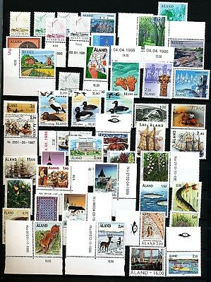 Aland  Finland 1984 - 1993 cpl collection including booklet and S/S. MNH