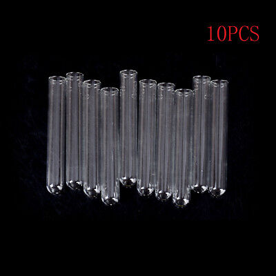 10Pcs 15*100 mm Glass Blowing Tubes 4 Inch Long Thick Wall Test Tube yN