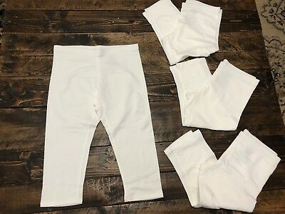 Faded Glory Girls Arctic White Solid Capri/Cropped Pants, Size M 7-8