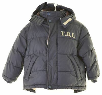TIMBERLAND BOYS PADDED Jacket 2 3 Years Navy Blue Polyester EL22