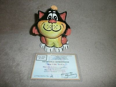 Lorna Bailey Mini Cat Named Tubby Limited Edition 2/40 With Certificate
