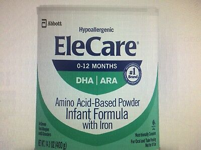 4 Cans Of Elecare Hypoallergenic Infant Formula