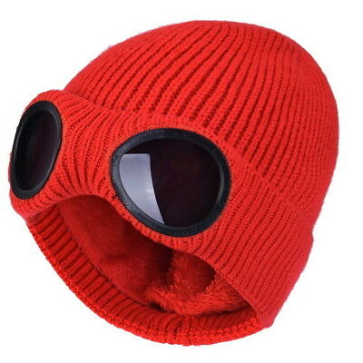 HOT! Warm Goggle Beanie Knitted Woolly Womens Winter Hats Xmas Christmas Gift ZI
