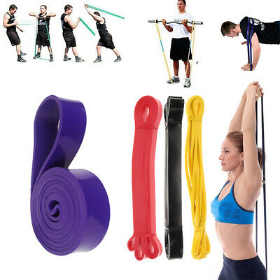 Pull Up Resistance Body Stretching Band Loop Power Gym Fitness Exercise Yoga UK
