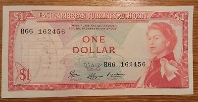 East Caribbean Currency Authority One Dollar Banknote 1965 issue P 13f(1)