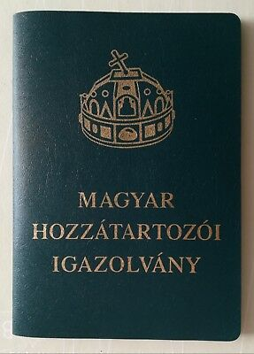 Hungary Certificate of Hungarian Citizenship BEAUTIFUL YOUNG GIRL 32 Pages