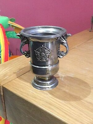 vintage silver plated cup goblet - made in england - reg des no 945535