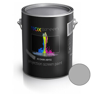 NOXscreen projector projection screen paint #3 Dark Abyss