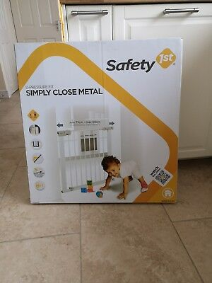 Safety 1st SecurTech Simply Close Metal Gate, White 2 - one new one used