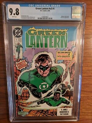 GREEN LANTERN V3 #1 (1990) CGC 9.8, Batman, Blue Beetle, Fire & Ice app.