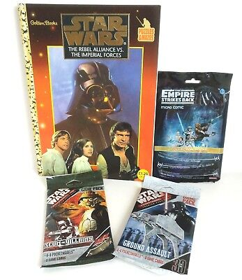 Star Wars Puzzle Book, Pocket Model Game Pack x2 And Micro Comic Fan Pack Set