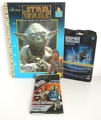 Star Wars Puzzle Book, Pocket Model Game Pack And Micro Comic Fan Pack Set
